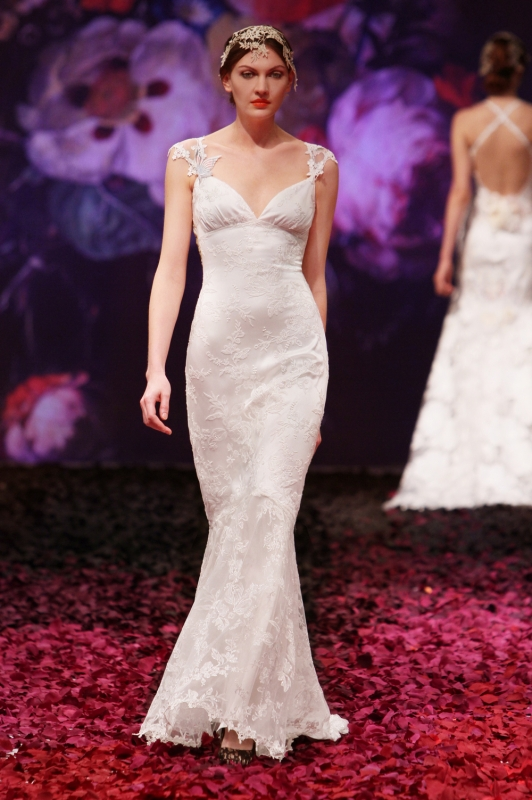 Claire Pettibone - Fall 2014 Bridal Collection - Papillion Wedding Dress</p>