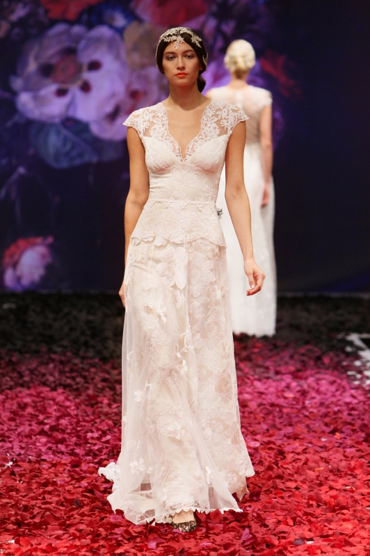 Claire Pettibone - Fall 2014 Bridal Collection - Rachel Wedding Dress</p>