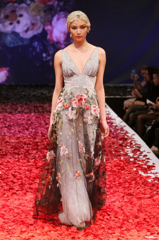 Claire Pettibone - Fall 2014 Bridal Collection - Raven Wedding Dress</p>