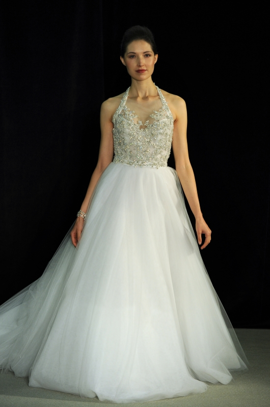 Anne Barge - Fall 2014 Black Label Collection  - Hepburn Wedding Dress</p>