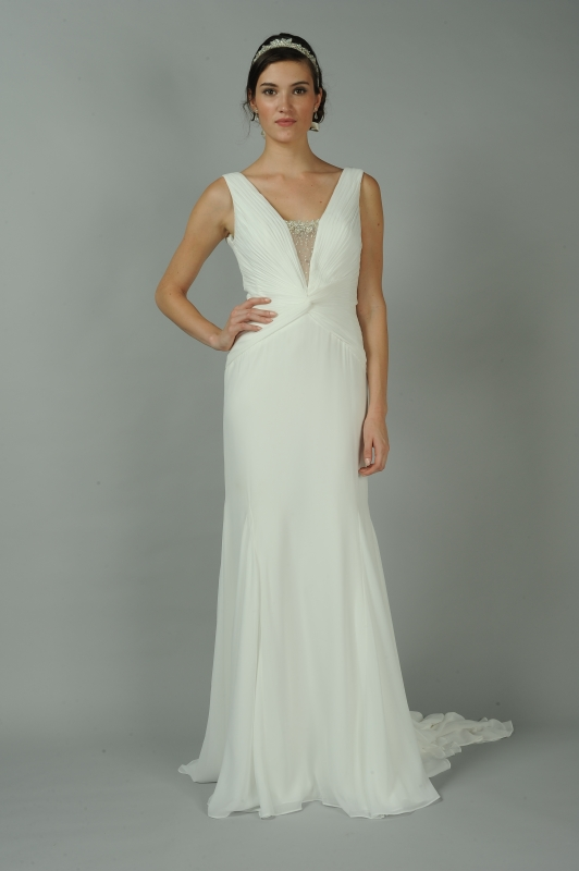 Anne Barge - Fall 2014 Blue Willow Bride Collection  - Esmerelda Wedding Dress</p>
