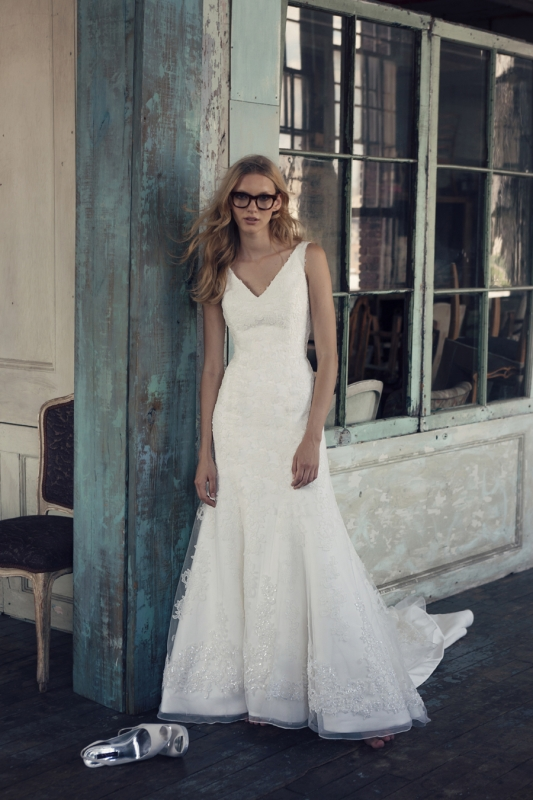 Michelle Roth - Fall 2014 Bridal Collection  - Raevynn Wedding Dress</p>