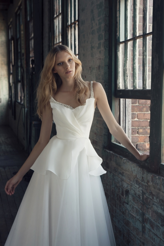 Michelle Roth - Fall 2014 Bridal Collection  - Rebecca Wedding Dress</p>