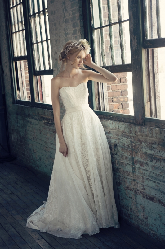 Michelle Roth - Fall 2014 Bridal Collection  - Regina Wedding Dress</p>