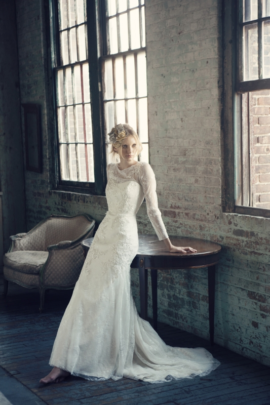 Michelle Roth - Fall 2014 Bridal Collection  - Rosalind Wedding Dress</p>