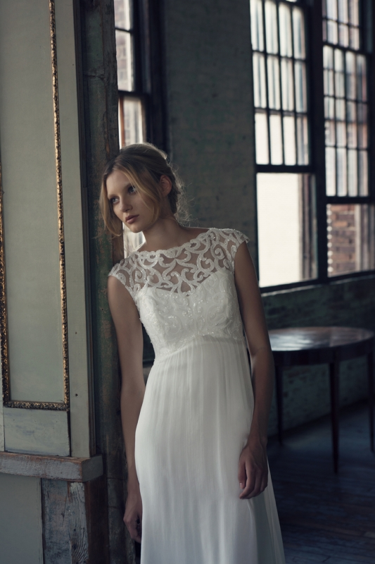 Michelle Roth - Fall 2014 Bridal Collection  - Ruby Wedding Dress</p>