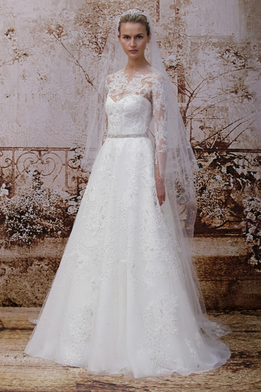 Monique Lhuillier - Fall 2014 Bridal Collection - <a href=