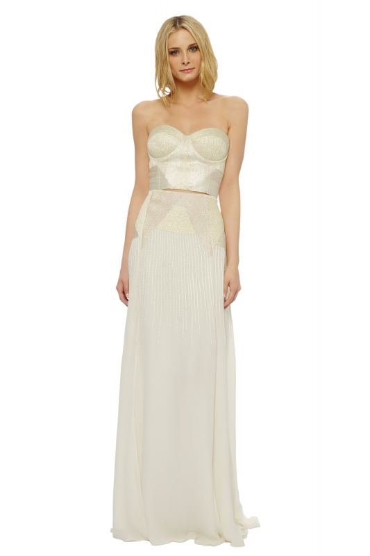 Mara Hoffman  - The Devotional Collection - Artemis Corded Bridal Bustier</p>