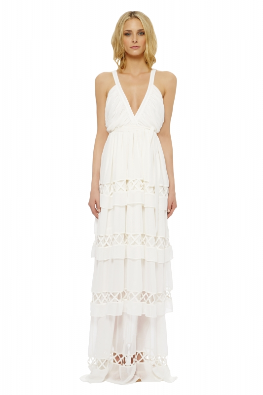 Mara Hoffman  - The Devotional Collection - Gaia Lattice Gown</p>