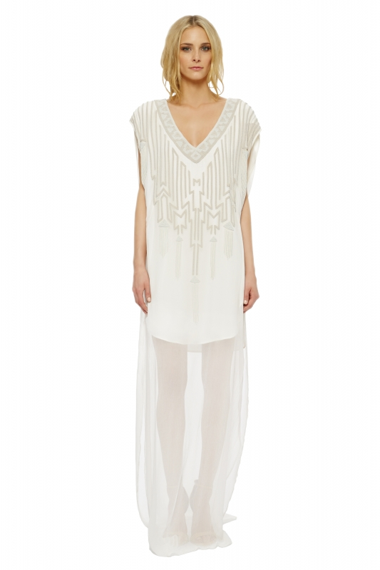 Mara Hoffman  - The Devotional Collection - Isis Beaded Sheath Gown</p>