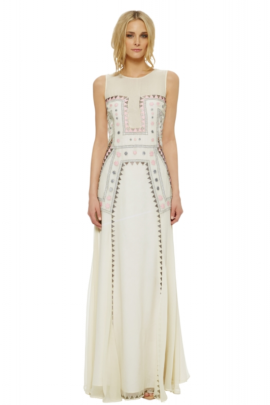 Lakshmi Embroidered Gown. Shop this Dress · Mara Hoffman - The Devotional  Collection ...