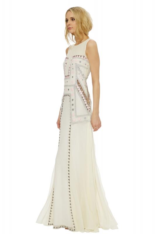 Mara Hoffman Embroidered Cut-Out Maxi Dress ($540)