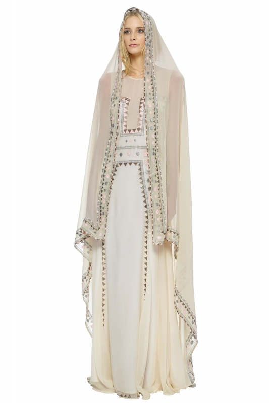 Lakshmi Embroidered Veil This Dress Mara Hoffman The Devotional Collection