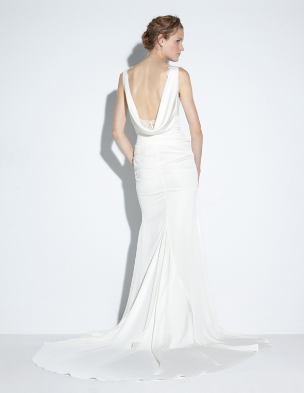 Nicole Miller - Fall 2014 Bridal Collection  - Nina Bridal Gown</p>