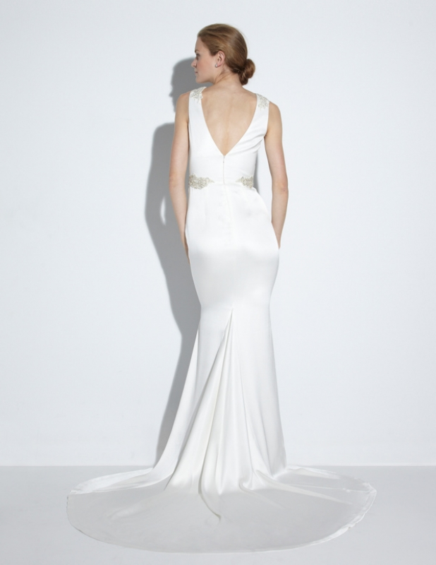Nicole Miller - Fall 2014 Bridal Collection  - Alexandra Bridal Gown</p>