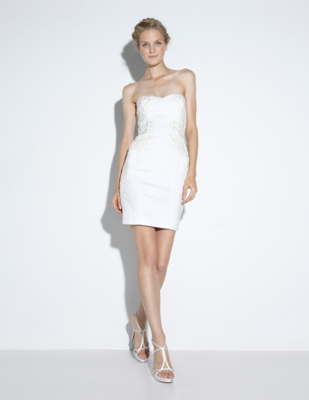 Nicole Miller - Fall 2014 Bridal Collection  - Quinn Cut the Cake Dress</p>