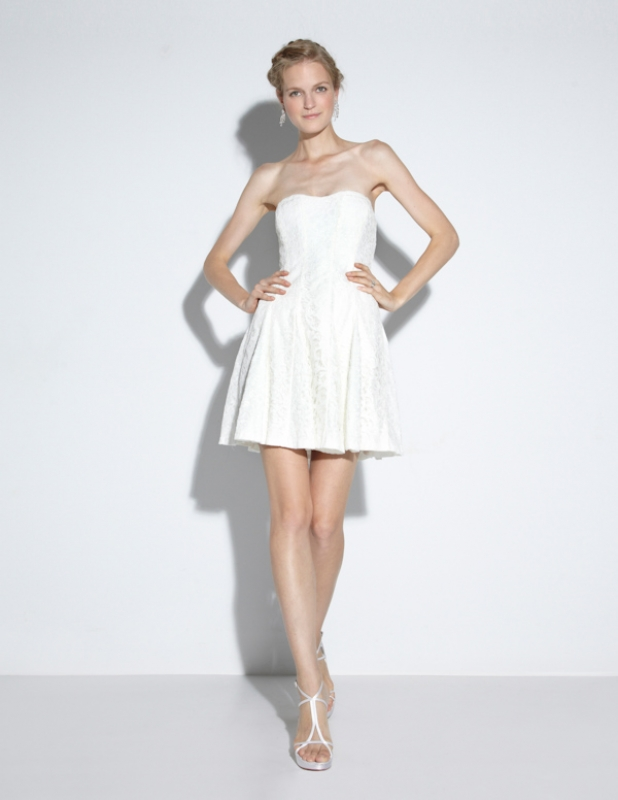 Nicole Miller - Fall 2014 Bridal Collection  - Mirabell Cut the Cake Dress</p>