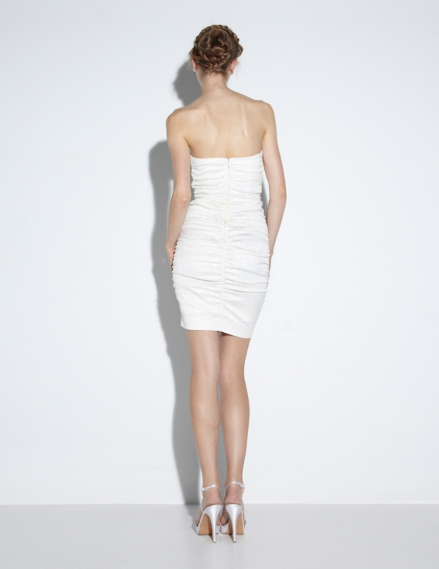 Nicole Miller - Fall 2014 Bridal Collection  - Mila Cut the Cake Dress</p>