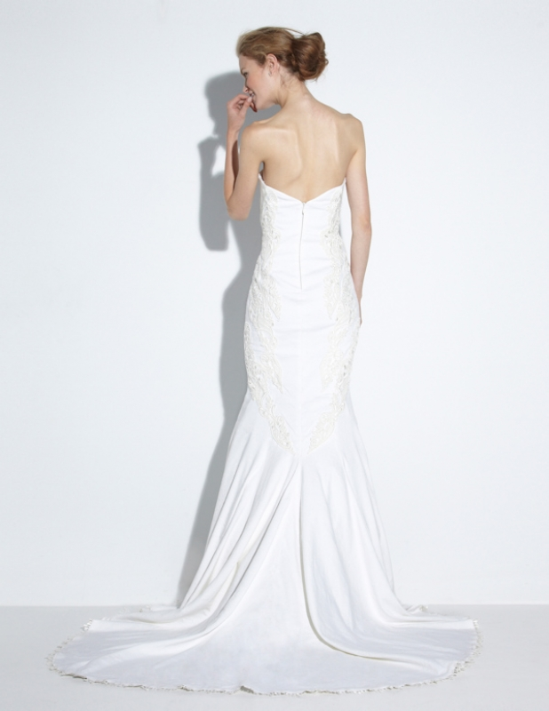 Nicole Miller - Fall 2014 Bridal Collection  - Meme Bridal Gown</p>
