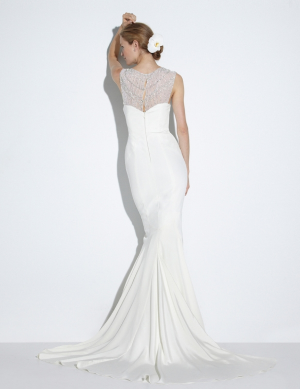 Nicole Miller - Fall 2014 Bridal Collection  - Lily Bridal Gown</p>