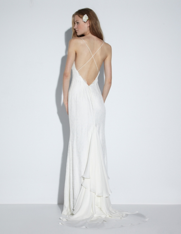 Nicole Miller - Fall 2014 Bridal Collection  - Jamie Bridal Gown</p>
