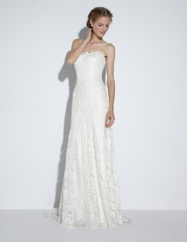 Nicole Miller - Fall 2014 Bridal Collection  - Riley Bridal Gown</p>