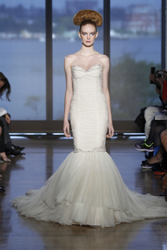 Ines Di Santo - Fall 2014 Couture Bridal - Theia Wedding Dress</p>