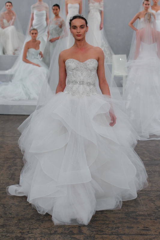 Monique Lhuillier - Spring 2015 Bridal Collection - <a href=