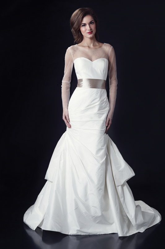 Heidi Elnora - Fall 2014 Bridal Collection - Cora Lee Wedding Dress and Leaf Me Knot Sash