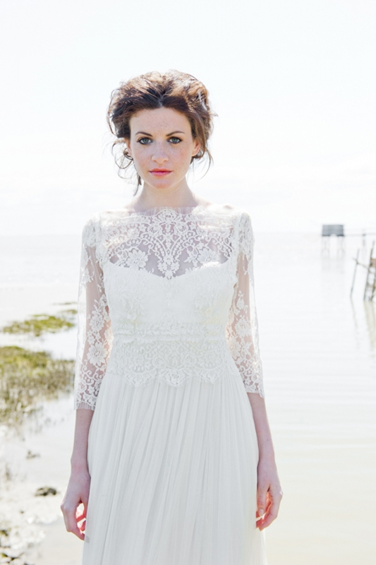 Confidentiel creation wedding dresses 2014 bridal collection for French couture dresses