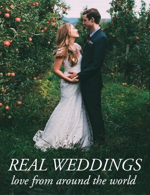 Get ideas for your wedding from real weddings from around the world