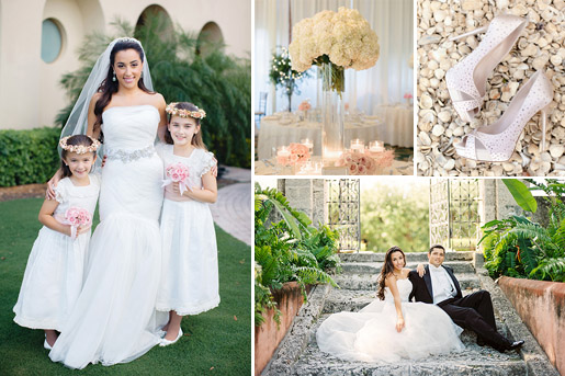 Elegant wedding at La Force Country Club in Miami, Florida - photos by Elaine Palladino Photography