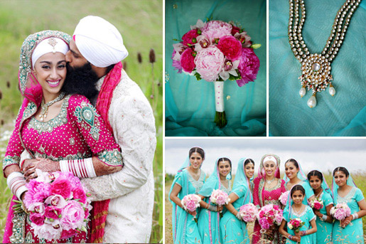 Colorful, modern Indian wedding in British Columbia - photos by Chris+Lynn