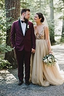 Jewel Tone Ontario Wedding at Lake of the Woods