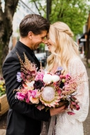 Urban Boho Wedding at MadArt Studio in Downtown Seattle