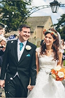 Orange and Teal English Wedding at Walcot Hall
