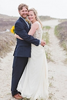 Yellow and Blue Wedding in Nantucket
