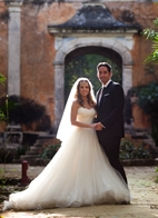 destination wedding at the Hacienda Uayamon in Campeche, Mexico, photo by Aaron Morris of Chrisman Studios
