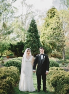 secret garden wedding in Baltimore, photo by L Hewitt Photography