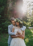 whimsical garden wedding in Boony Doon, California, photo by Sun + Life Photography