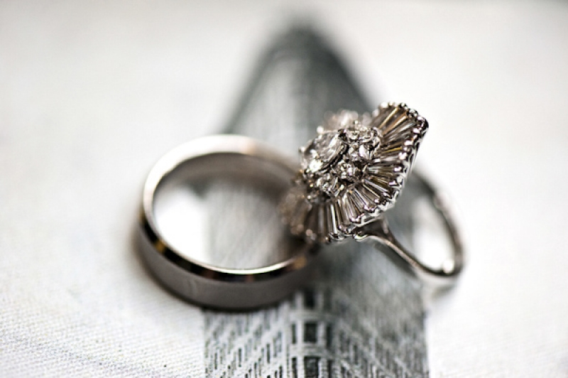art deco inspired diamond ring, photo by Kristen Weaver Photography
