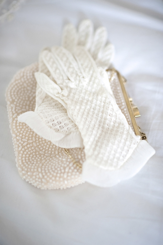 white gloves and beaded clutch, photo by Kristen Weaver Photography