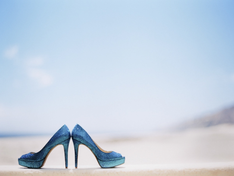blue glitter shoes, photo by Jillian Mitchell