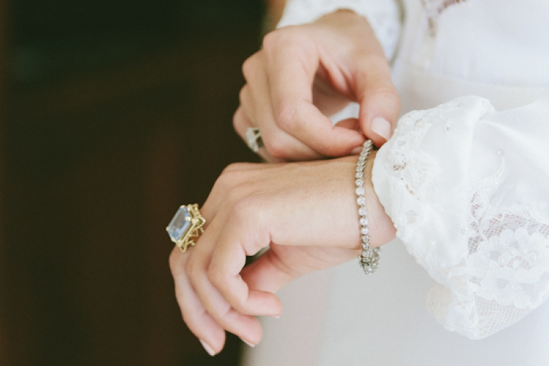 lavender cocktail ring and small diamond bracelet, photo by Wai Reyes Photography