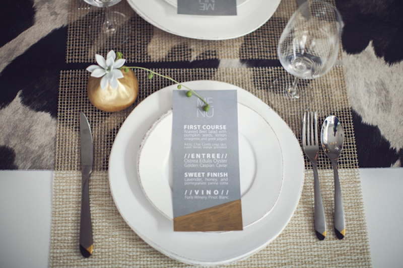 Place Setting For Modern Minimal Wedding Photo By Studio