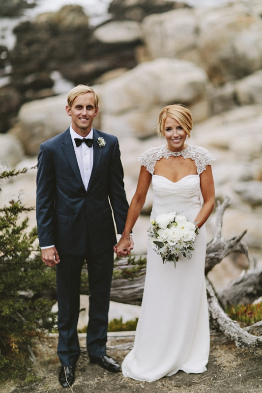 stylish and elegant bride and groom, photo by Benj Haisch
