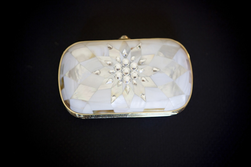 crystal pearl clutch, photo by Asya Photography