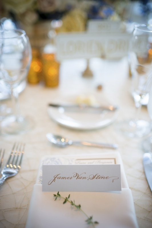 calligraphed name card, photo by Asya Photography