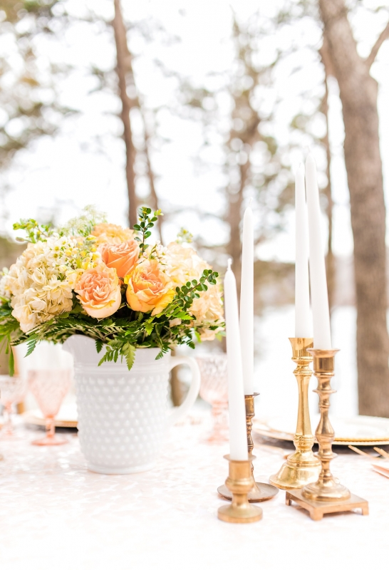 gold and orange table scape