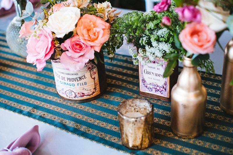 Eclectic Backyard Wedding Reception Decor Vintage Elements Wedding